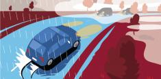 Pluie, brouillard : les bons gestes face aux intempéries