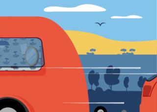 Caravanes, remorques, coffres de toit : quelles sont les règles ?
