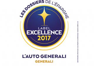 Label d'Excellence 2017 pour L'Auto Generali