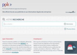 Informations légales des entreprises : un site web dédié vient d'être lancé