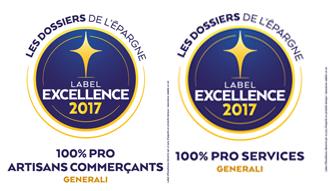 Labels d'excellence 2017 pour le contrat 100% Pro